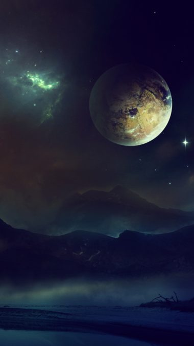 Space Planet Light Night Sky 380x676