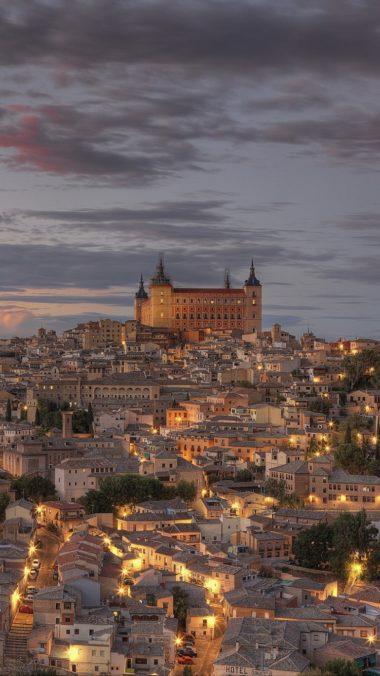 Spain Toledo Lights Dusk Hdr 380x676