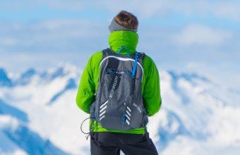 Sportsman Skiing Mountain Top Tourist Wallpaper 2160x3840 340x220