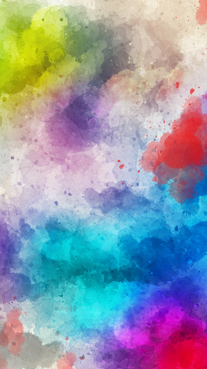 Stains Watercolor Paint Abstraction Wallpaper 720x1280