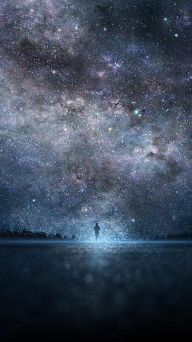 Star Art Sky Night People Silhouette 380x676