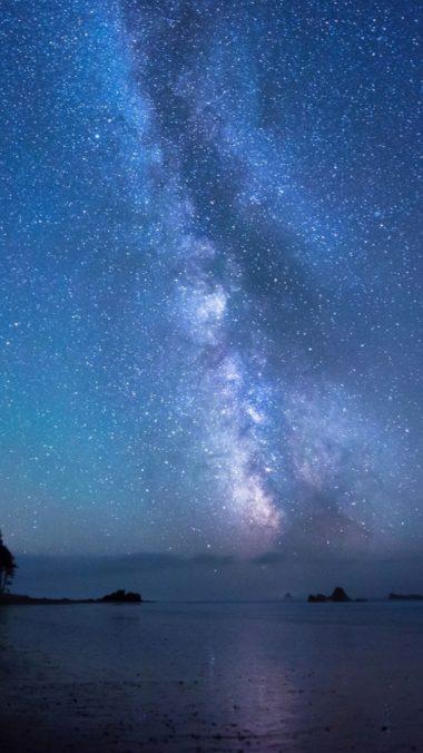 Stars Sky Shore 380x676