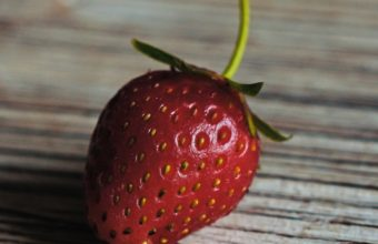 Strawberry Berry Ripe Wooden Table Wallpaper 2160x3840 340x220