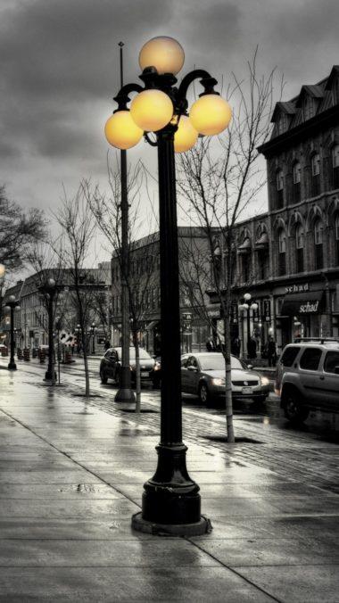 Street City Evening Black White Lights Buildings Hdr 380x676