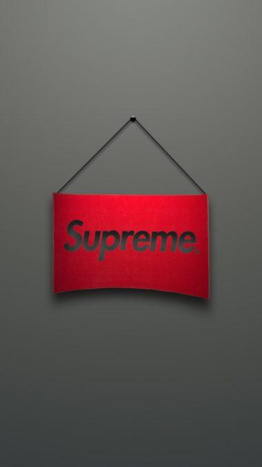 Supreme Logo Red Minimalism 380x676