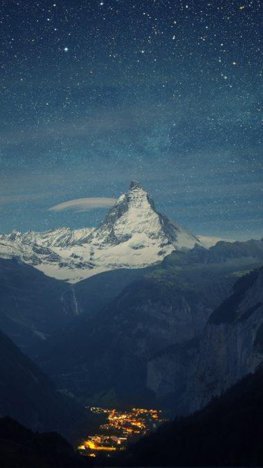 Switzerland Alps Mountains Night Beautiful Landscape 380x676