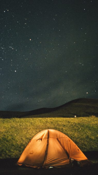 Tent Starry Sky Night Wallpaper 720x1280 380x676