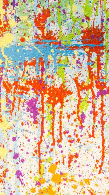 Texture Paint Stains Multicolored Wallpaper 720x1280 380x676