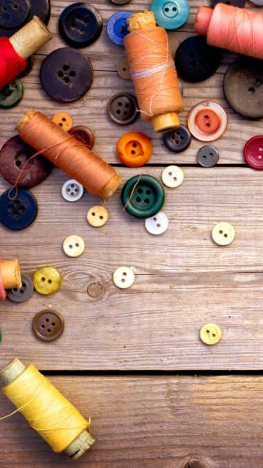 Thread Ussr Buttons Sewing Wood Background 380x676