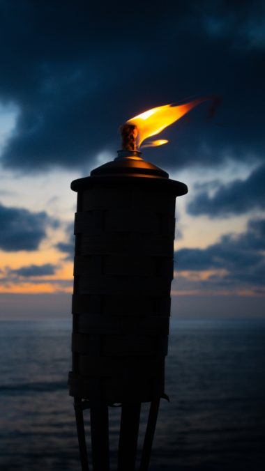 Torch Fire Wick Night Wallpaper 2160x3840 380x676