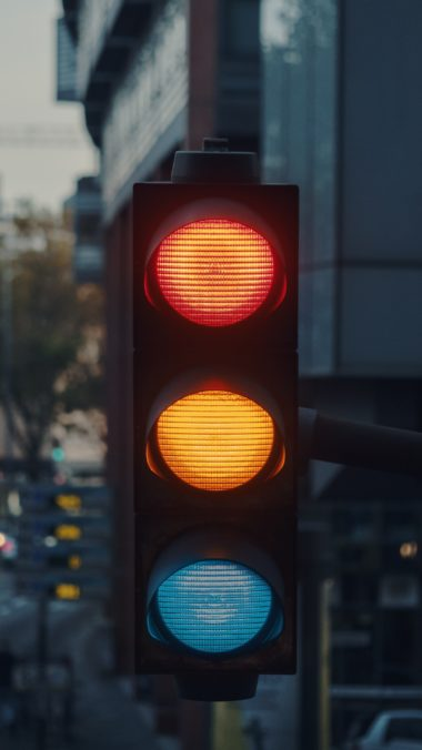 Traffic Light City Light Wallpaper 2160x3840 380x676