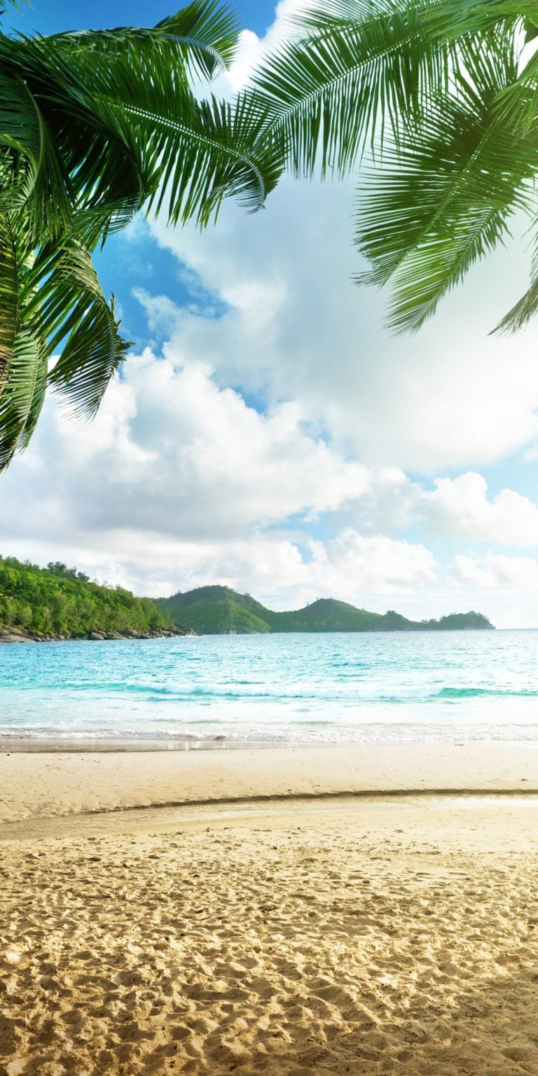 Tropical Beach View Ultra HD Wallpaper 1080x2160 768x1536