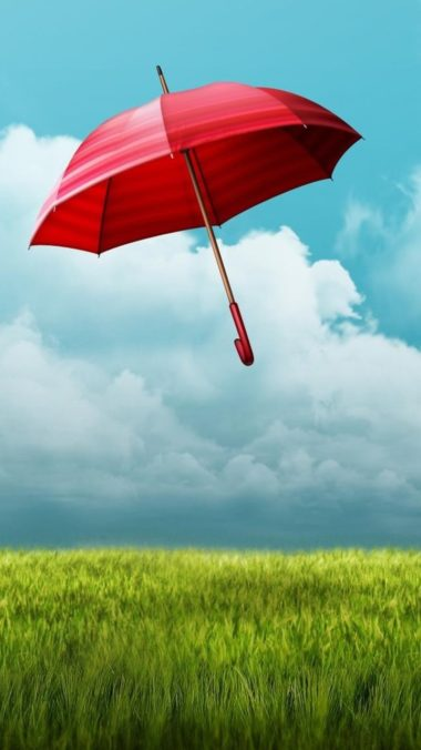 Umbrella Fields Wallpaper 720x1280 380x676