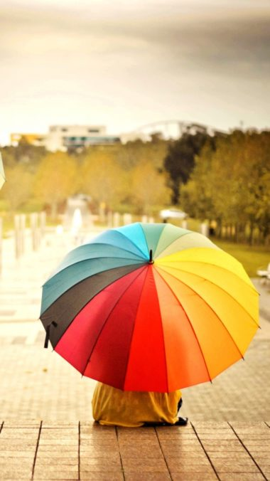 Umbrellas Colorful Kids Rainbow Weather Mood 380x676