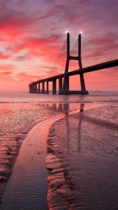Vasco Da Gama Bridge Image Wallpaper 1080x1920 380x676