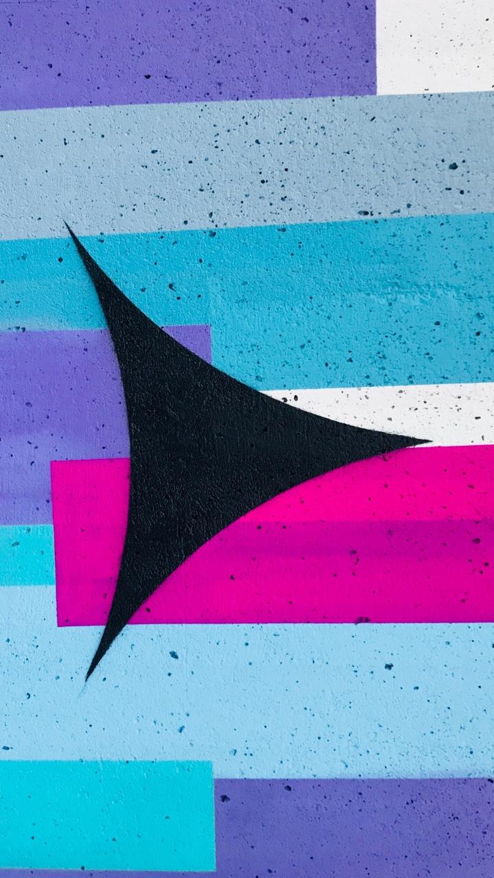 Wall Texture Arrow Paint Wallpaper 720x1280