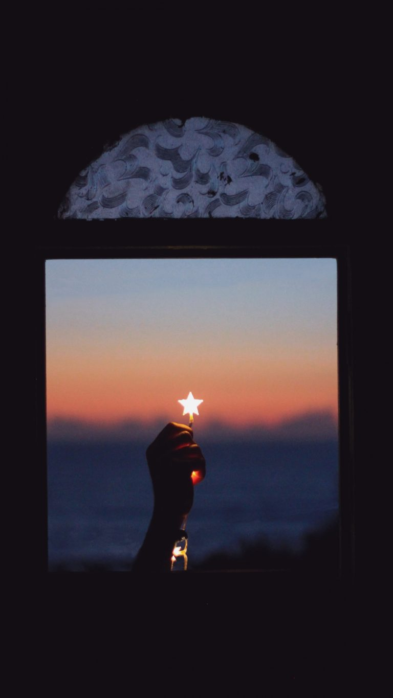 Window Star Hand Night Wallpaper 2160x3840 768x1365