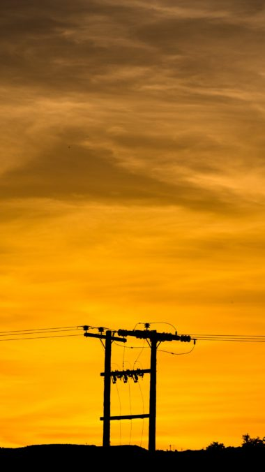Wires Pillar Sunset Wallpaper 2160x3840 380x676