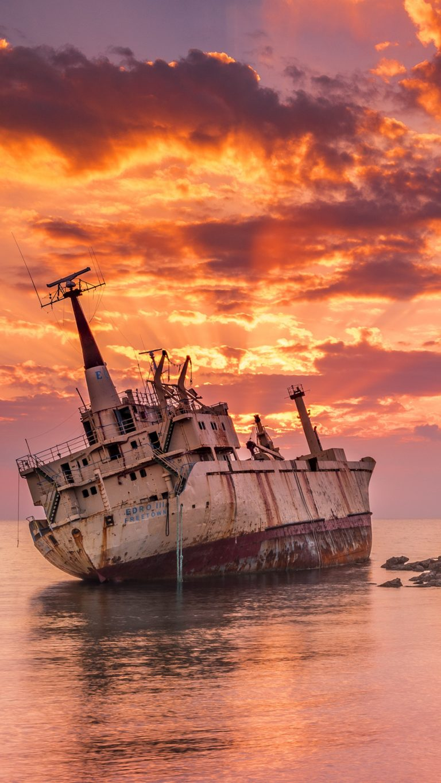 Wrecked Ship Rt Wallpaper 2160x3840 768x1365