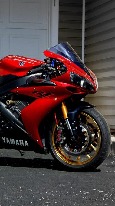 Yamaha R1 Red Sportbike 380x676
