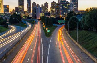 Atlanta Usa Road Skyscrapers Wallpaper 1440x2560 340x220