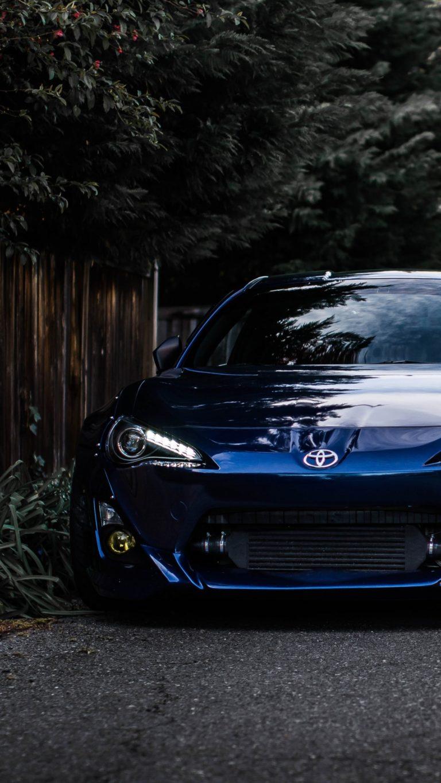 Auto Front View Blue Wallpaper 1440x2560 768x1365