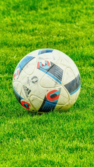 Ball Football Lawn Grass Wallpaper 1440x2560 380x676