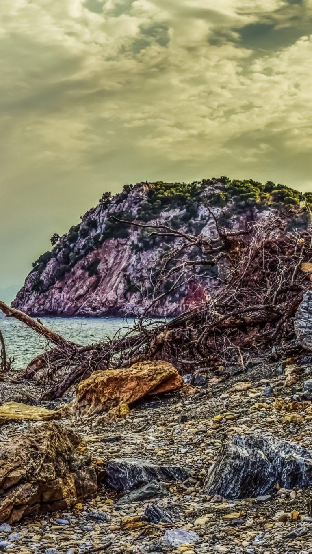 Beach Pebble Rock Hdr Wallpaper 1440x2560 768x1365