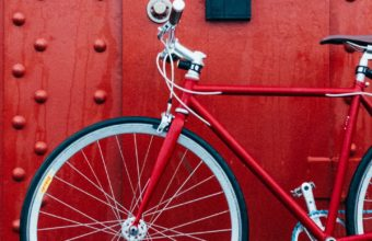 Bicycle Red Wall Wallpaper 1440x2560 340x220