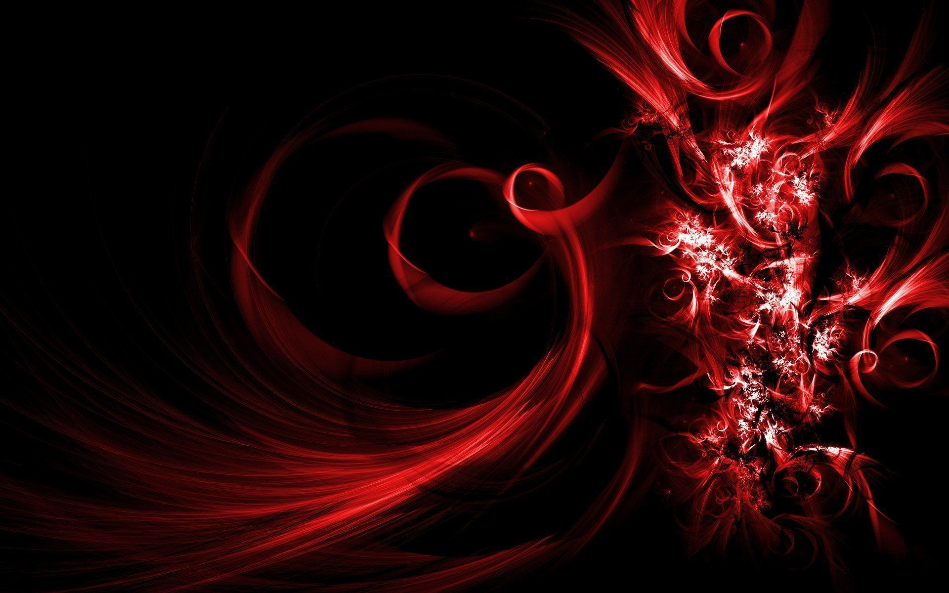 Black And Red Abstract Wallpaper 01 - 1920x1200