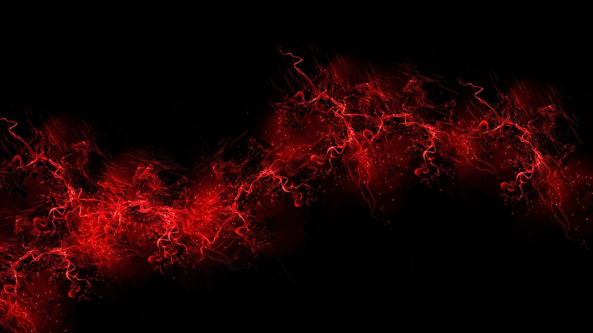 Black And Red Abstract Wallpaper 03