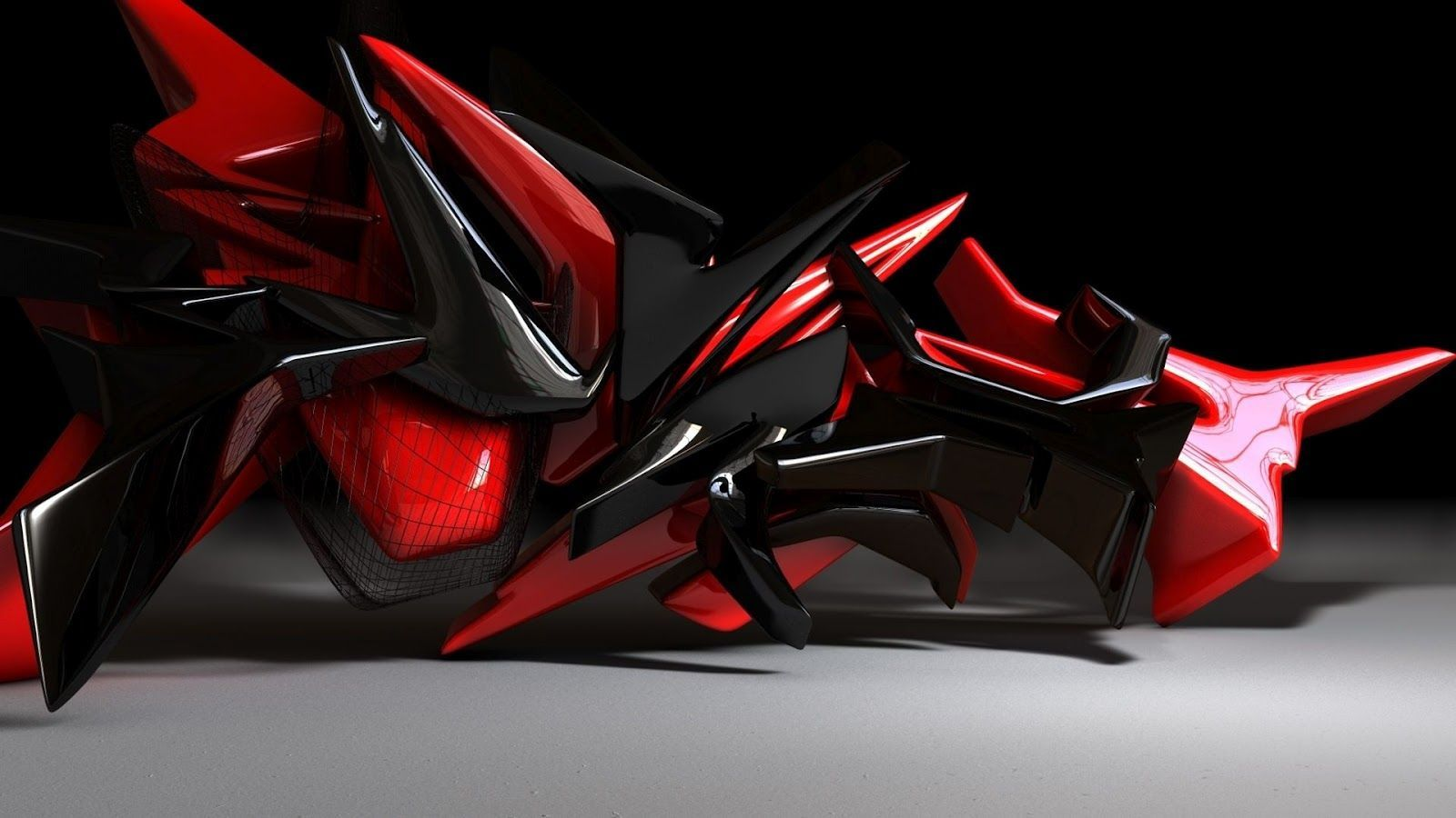 Black And Red Abstract Wallpaper 26