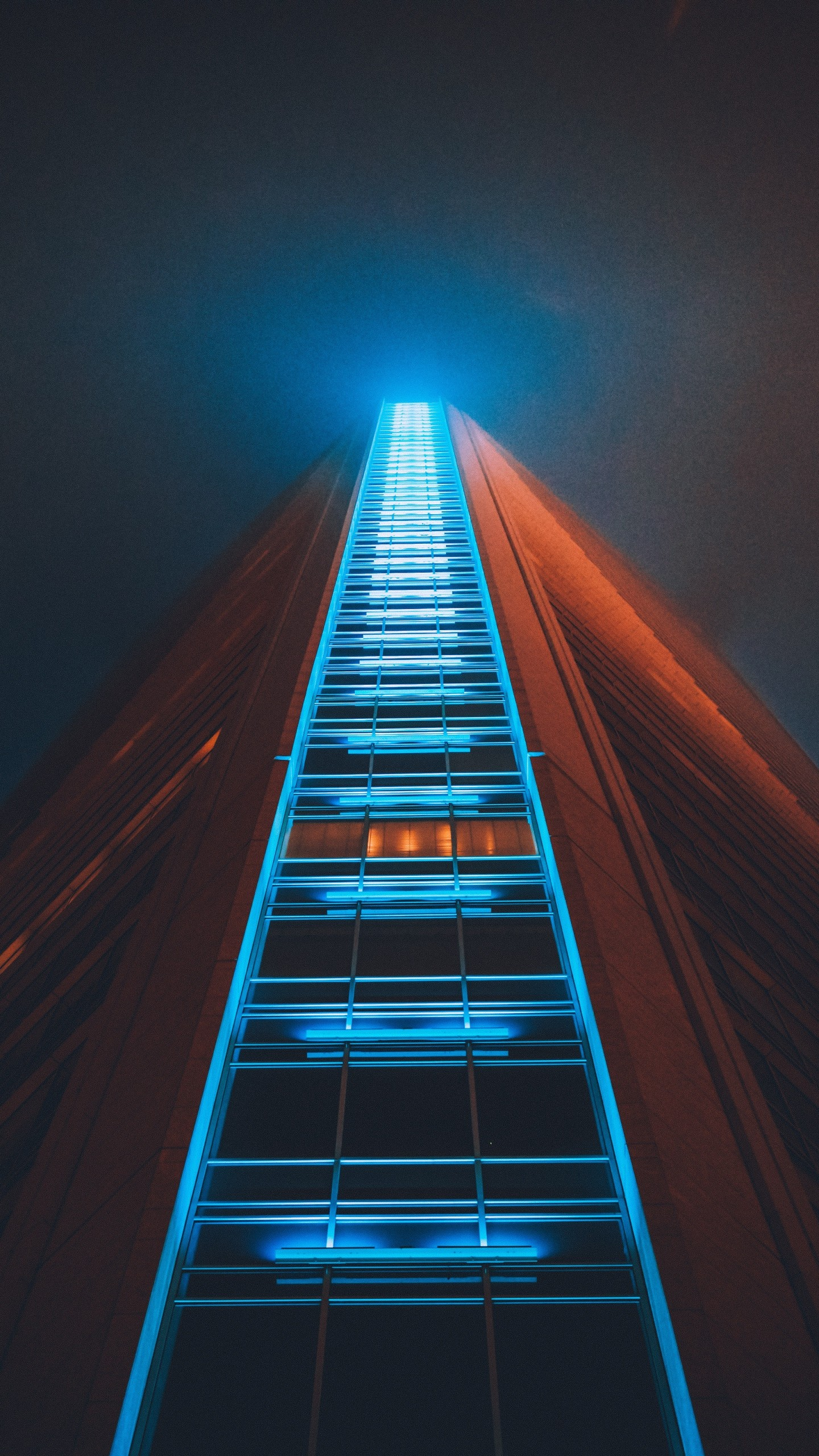 Building Skyscraper Structure Night Wallpaper 1440x2560 380x676