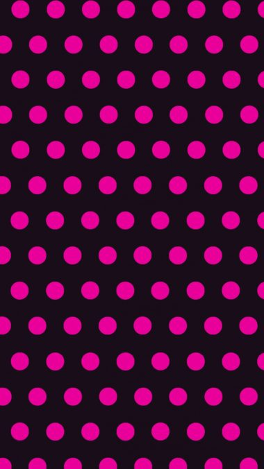 Circles Art Pink Black Wallpaper 1440x2560 380x676