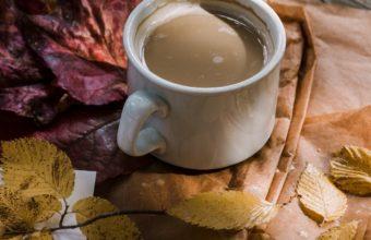 Coffee Autumn Hat Foliage Wallpaper 1440x2560 340x220