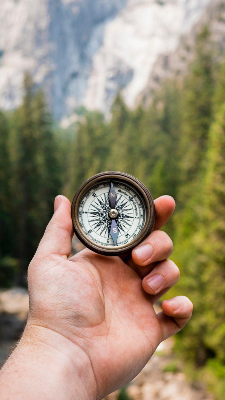 Compass Hand Direction Wallpaper 1440x2560 768x1365