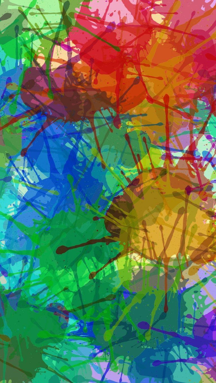 Drops Stains Paint Wallpaper 1440x2560 768x1365