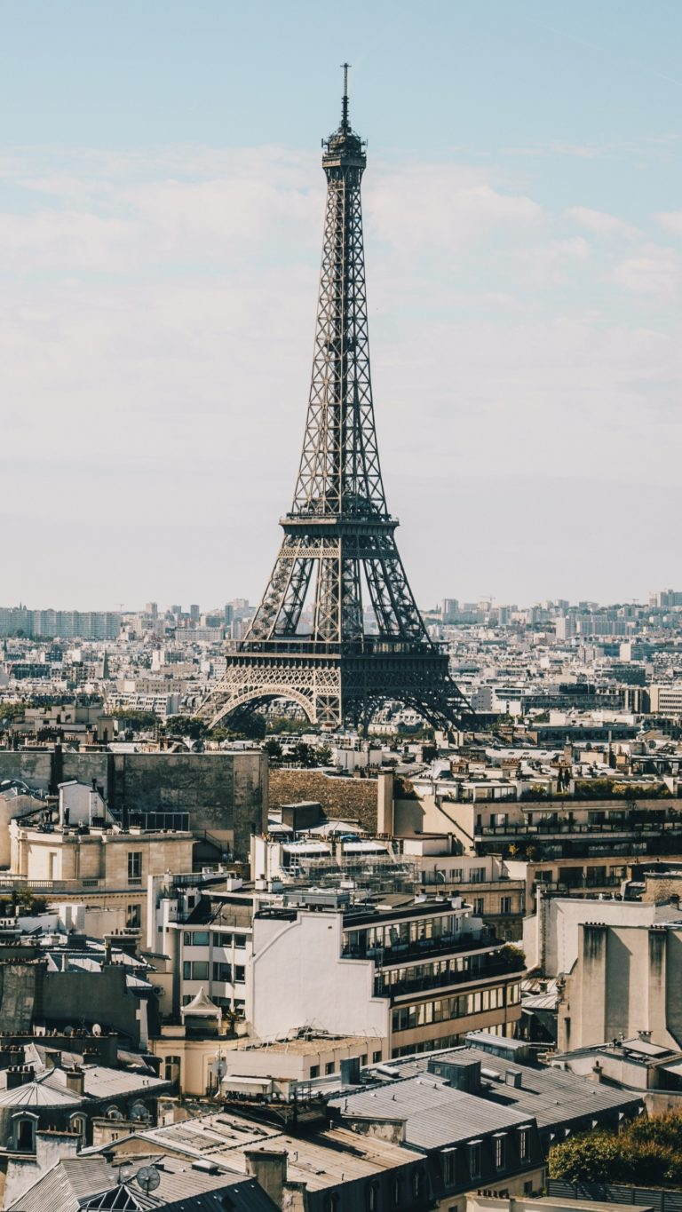 Eiffel Tower Paris Buildings Wallpaper 1440x2560