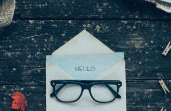 Envelope Letters Glasses Wallpaper 1440x2560 340x220