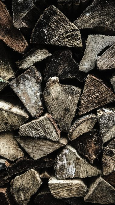 Firewood Texture Wooden Wallpaper 1440x2560 380x676