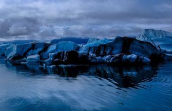 Glacier Sea Snow Ice Evening Wallpaper 1440x2560 340x220