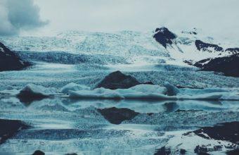 Ice Snow Stones Wallpaper 1440x2560 340x220