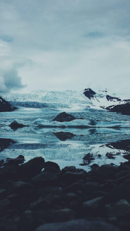 Ice Snow Stones Wallpaper 1440x2560 768x1365