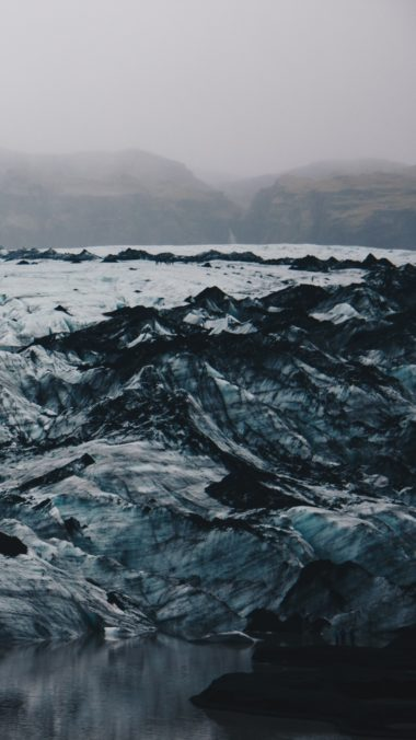 Iceland Ice Floes Ice Shore Wallpaper 1440x2560 380x676