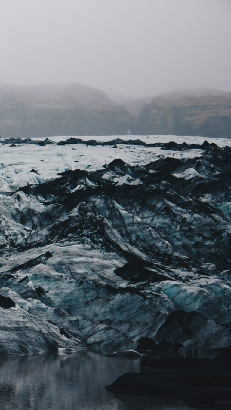 Iceland Ice Floes Ice Shore Wallpaper 1440x2560 768x1365