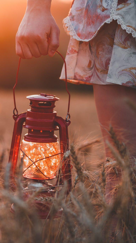 Lamp Field Grass Hand Wallpaper 1440x2560 768x1365