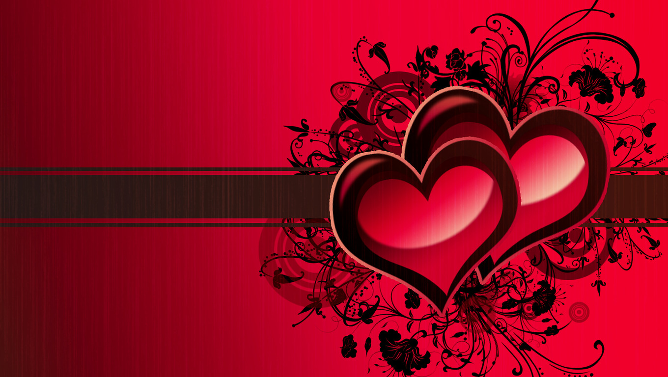 Love Heart Wallpaper 05 1360x768