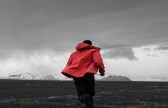 Man Field Running Mountains Wallpaper 1440x2560 340x220