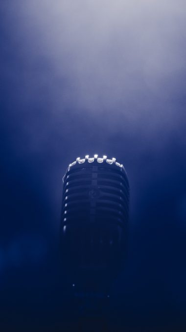 Microphone Smoke Blackout Wallpaper 1440x2560 380x676