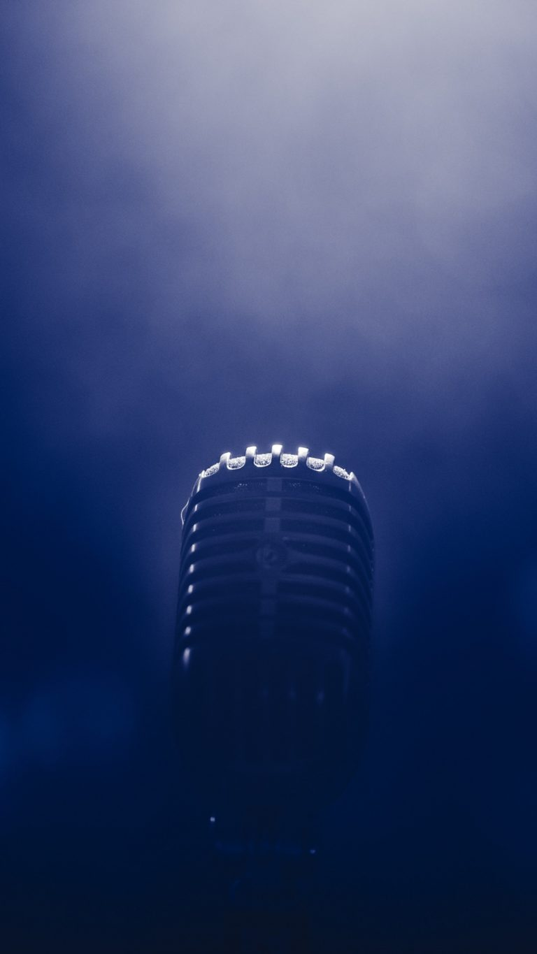 Microphone Smoke Blackout Wallpaper 1440x2560 768x1365